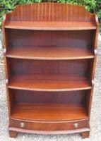 Mahogany Open Standing Bookcase by Reprodux